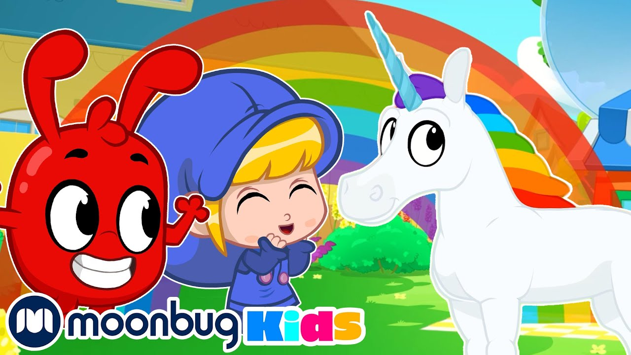 MORPHLE - Rainbow Unicorns Rainbow Ride | Moonbug Play and Learn