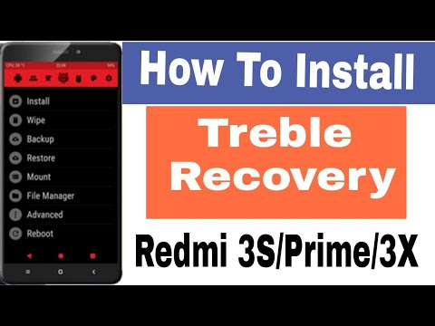 TREBLE RECOVERY - How To Install Treble Recovery On Redmi 3S/Prime /3X  [Redwolf & TWRP]