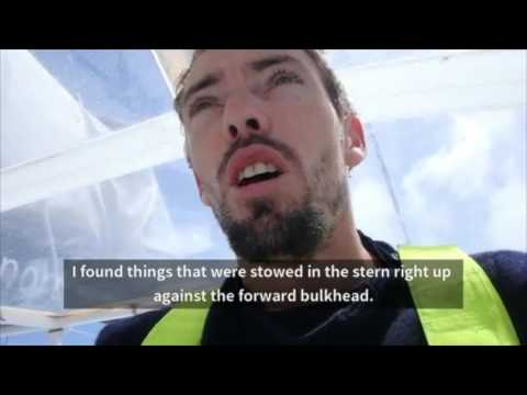 Vendee Globe sailor shows catastrophic damage to his yacht