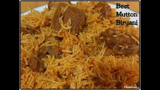 Best Mutton Biryani Recipe - Mutton Biryani made in a pressure cooker - Perfect for beginners too