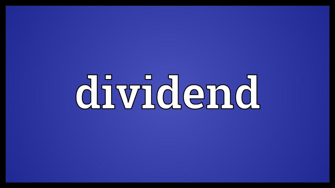 dividende definition erklärung