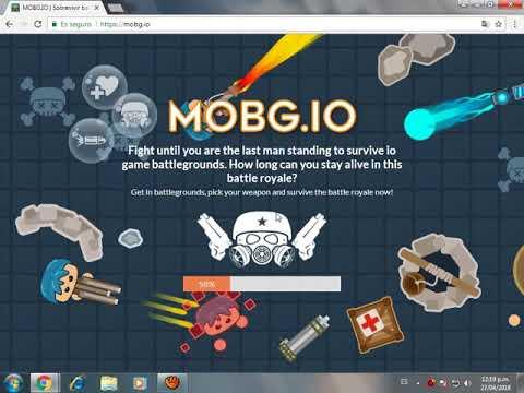 Jugando Mobg Io Juegos Io Youtube