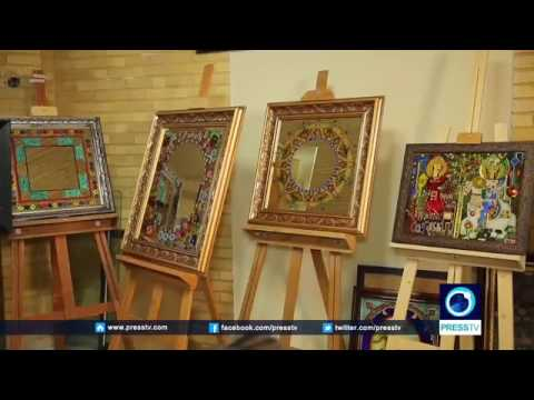 27980 Kunst Press TV IRAN    Ancient Iranian art׃ Reverse glass painting