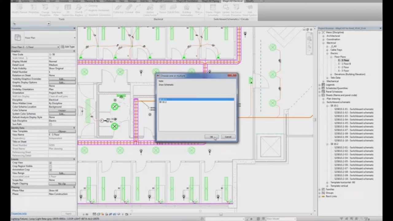 magicad 2014 11 for revit create and update switchboard schematics rh youtube com electrical riser diagram revit Revit MEP Electrical