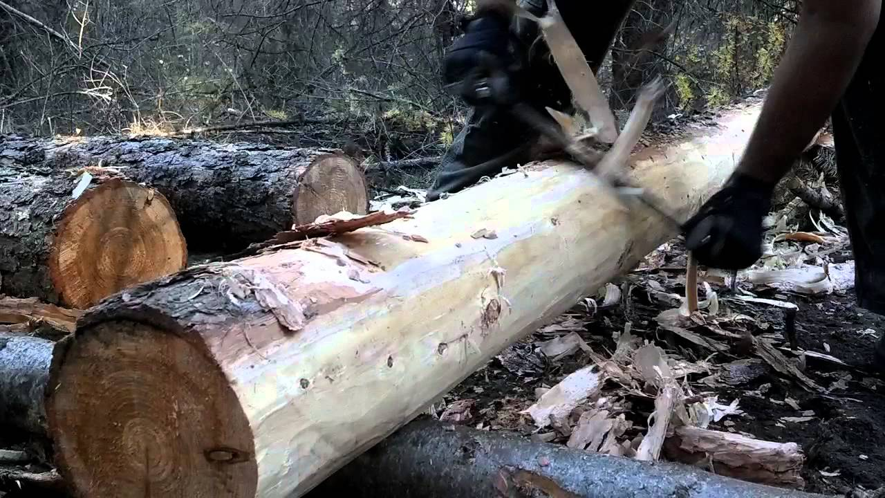 How To Use A Drawknife Drawshave Peeling Logs Youtube