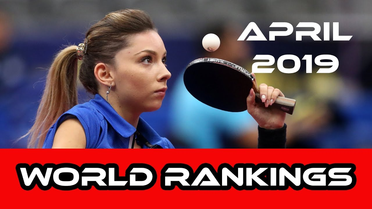 Table Tennis World Rankings April 2019