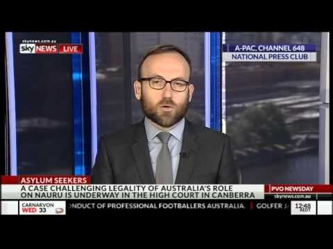 Adam Bandt talks Nauru and terror raids on Sky News