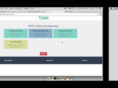 Webinar on Tian- An Open Source Test Automated Lab in the Cloud by QA InFoTech