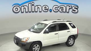 C99978RP Used 2008 Kia Sportage LX 4WD SUV White Test Drive, Review, For Sale