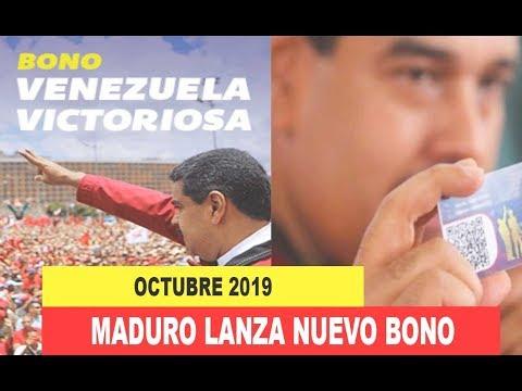 BONO CARNET DE LA PATRIA Venezuela Victoriosa Por 75 Mil, Octubre 2019