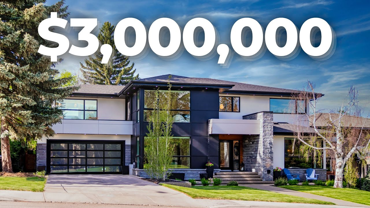 INSIDE a $3,000,000 Luxury Home in ICONIC Elbow Park, Calgary!  Million Dollar Tour 2021