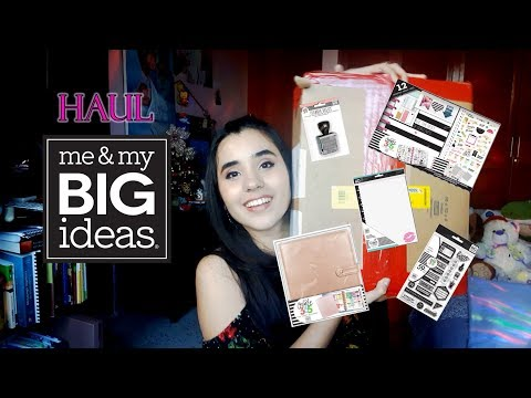 Haul Me and My Big Ideas - Happy Planner a Colombia Unboxing
