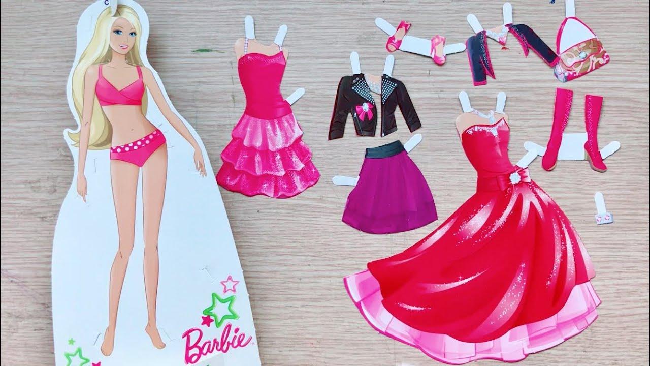 Thời trang búp bê Barbie tập 1 / Thay trang phục công chúa búp bê Barbie /Dolly dressing (Chim Xinh)