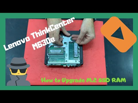 Lenovo ThinkCentre M630e Tiny How To Upgrade M.2 Pcie Nvme RAM SSD Disassembly