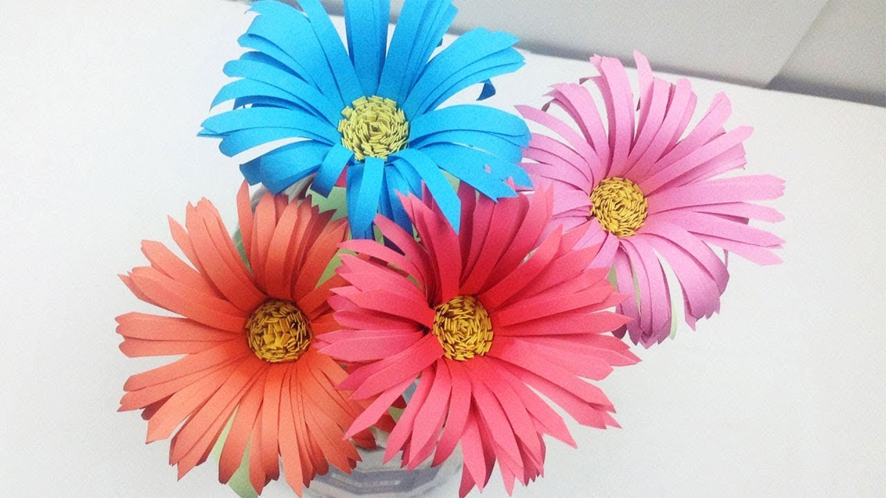 How to Make Aster Flower out of Colour Paper - Easy Way to Make ...