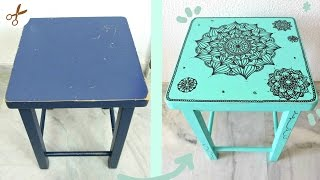 COMO PINTAR Y DECORAR MUEBLES | MANDALAS | Your creative channel