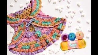 Bolero de Crochê Ciranda 1 a 2 anos
