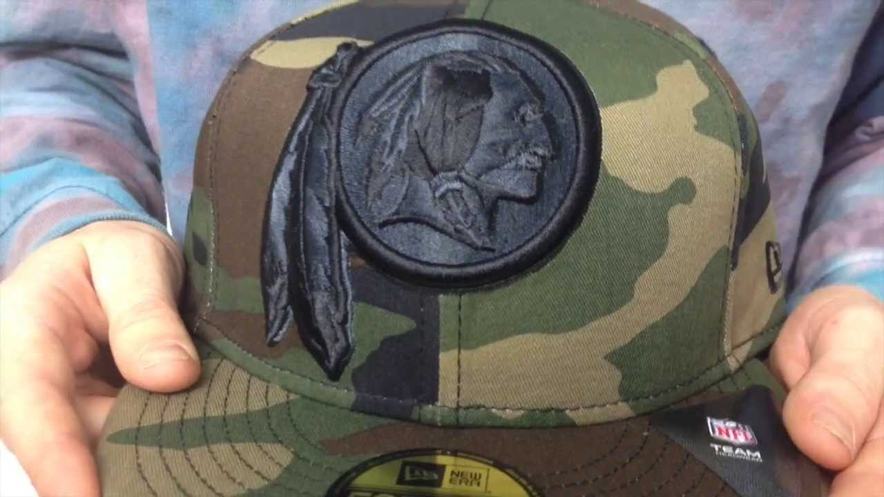 Redskins  NFL MIGHTY-XL  Army Camo Fitted Hat by New Era - YouTube 093ac0d58a5