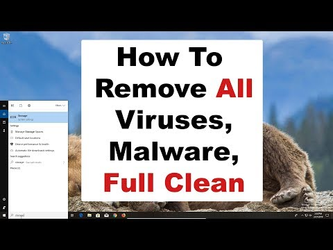How to remove computer virus, malware, spyware, full computer clean and maintenance 2019