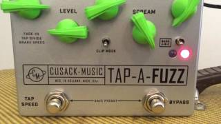 Cusack Music Tap-A-Fuzz Demo