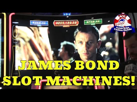 James Bond Slot Machines From Scientific Games