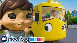 Going To School Song + More Nursery Rhymes For Kids   Lellobee Baby Cartoons   Moonbug Kids