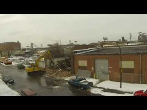 Baltimore Tool Works goes Buh-Bye - time lapse of building demolition