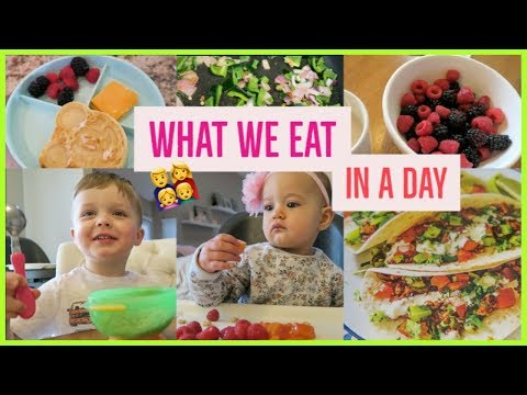 WHAT WE EAT IN A DAY 🌮🍌🍓  | MOM BABY + TODDLER 👩👧👦🍼 | healthy simple meals