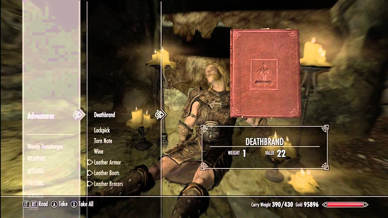 Skyrim Deathbrand Quest Youtube