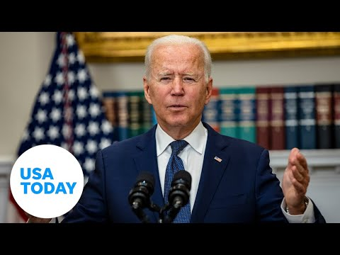 President Biden remarks on efforts in Afghanistan to evacuate American citizens USA TODAY