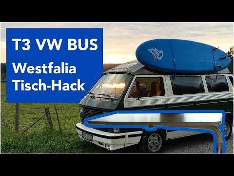 T3 VW Bus: Westfalia Tisch Hack