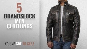 Top 10 Brandslock Men Clothings [ Winter 2018 ]: Brandslock Mens Leather Biker Jacket Black Vintage