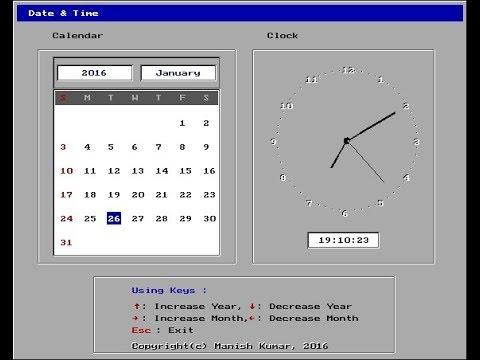 GUI Calendar & Clock - JustdoCodings