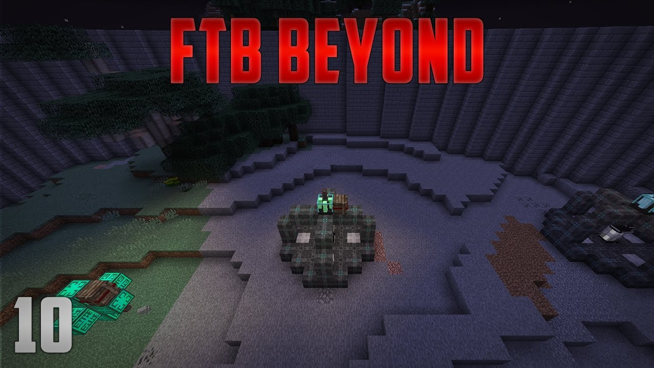 FTB Beyond EP 10 Environmental Tech Ore Miner + Quantum Quarry