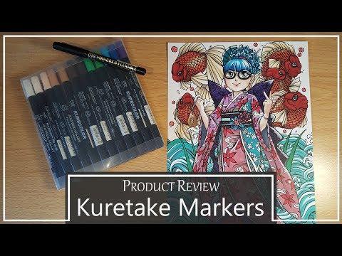 Product Review: Kuretake Kurecolor marker pens