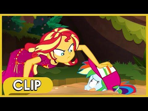 Sunset Y Twilight Salvan A Rainbow Dash - MLP: Equestria Girls [Español Latino]