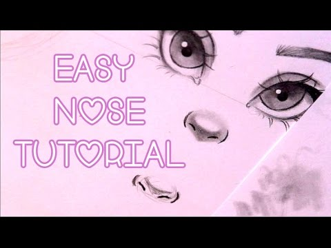 How To Draw Noses Easy Youtube