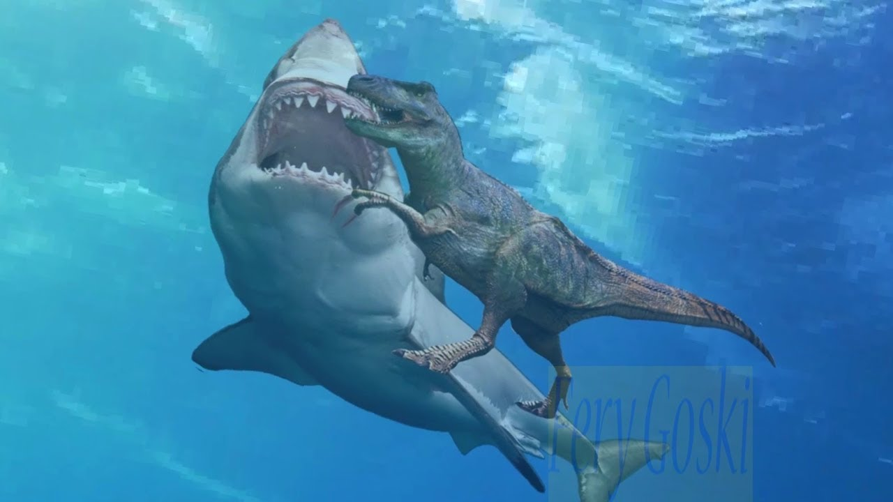 Dinosaurs Vs Megalodon | www.pixshark.com - Images Galleries With A Bite!