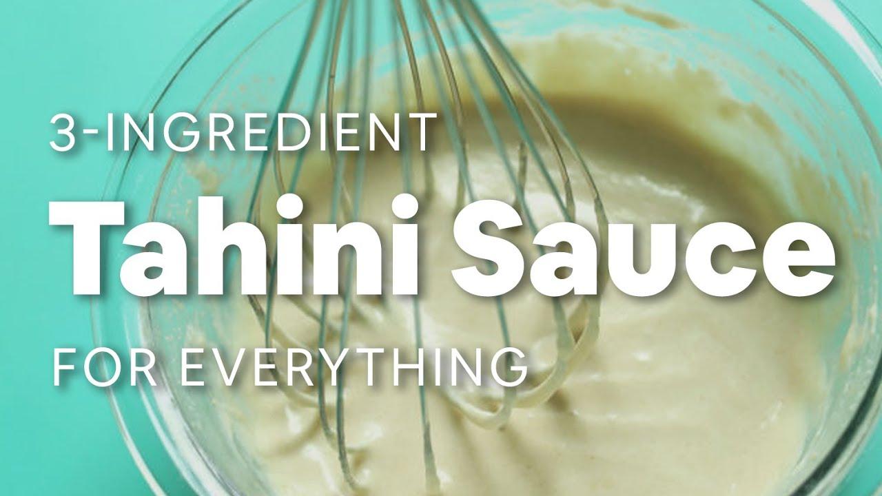 3 Ingredient Tahini Sauce For Everything