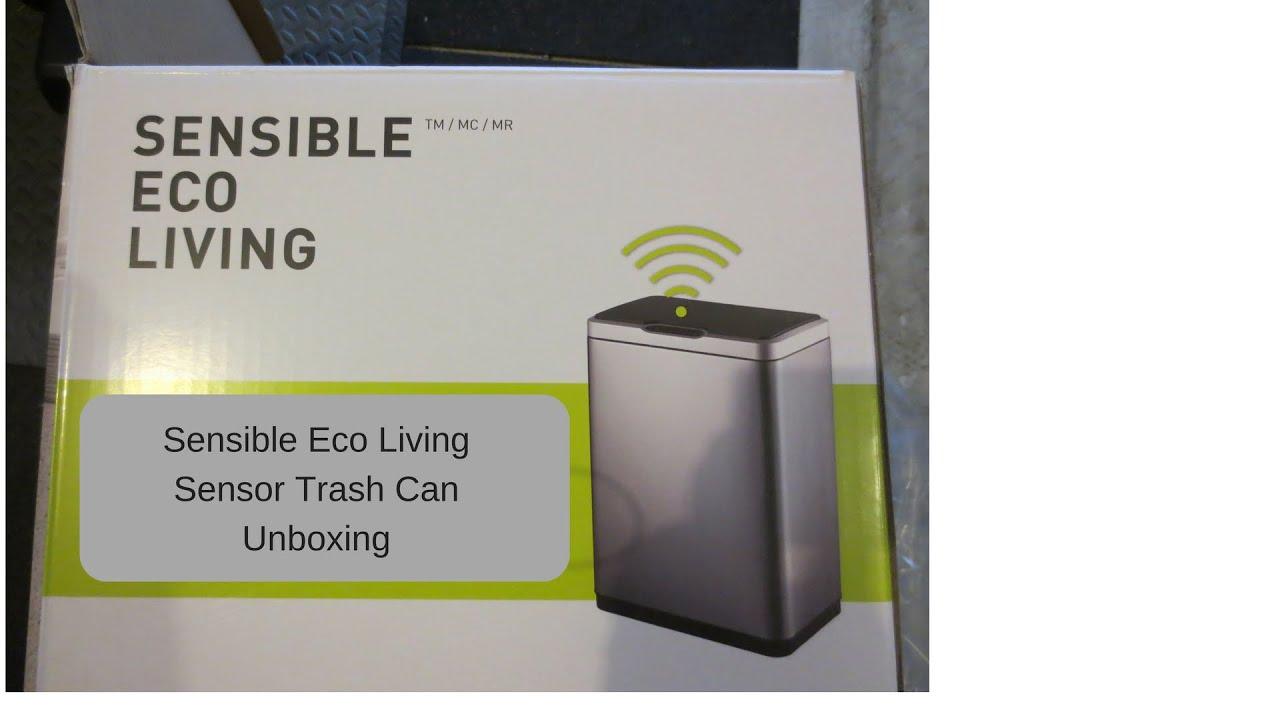 Sensible Eco Living Sensor Trash Can Unboxing Youtube
