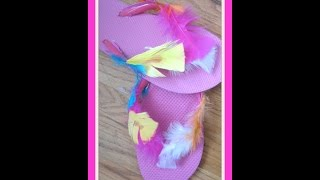 0f768828c0c0d DIY Flip Flops Decorating - How To Decorate Sandals for Summer  DIY Feather Flip  Flops ...