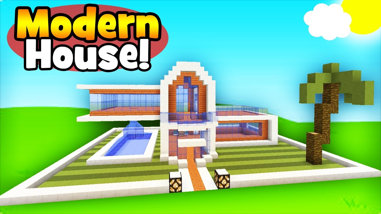 Minecraft Tutorial: How To Make A Simple Modern House ...