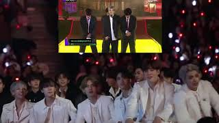 ATEEZ Reaction to BTS We Are Bulletproof  at MAMA 2019