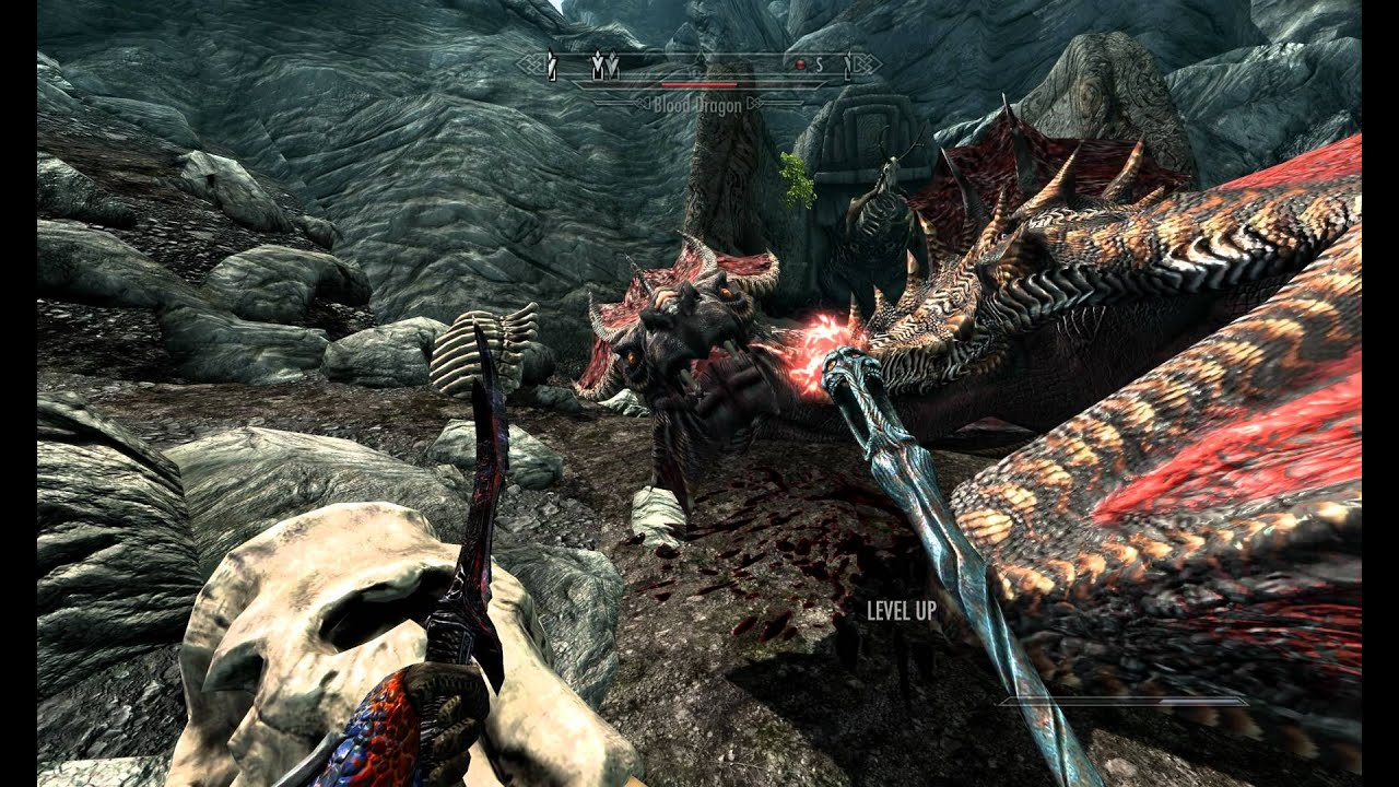 Skyrim Passive Immortal Dragon Gitched/Bugged 2K Resolution UHD 4K Textures  Ultimate Quality