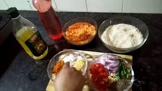 Dal chawal recipe / veg platter