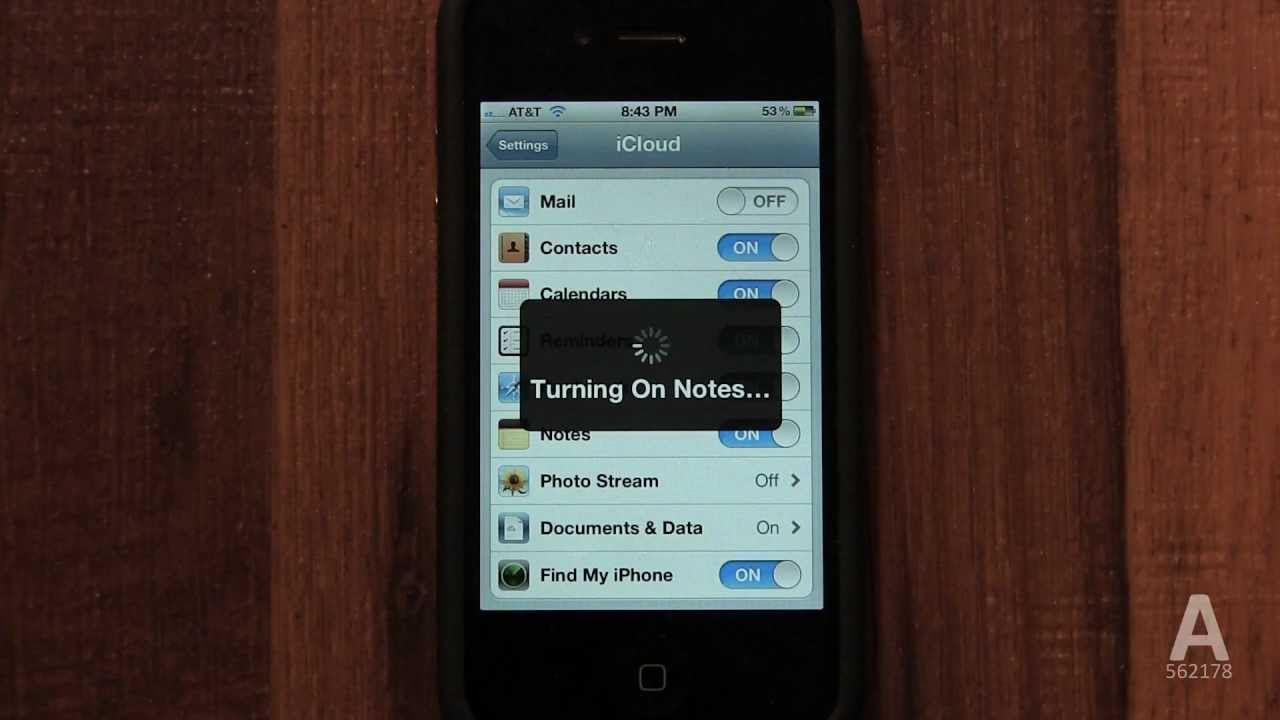 how to set icloud on iphone 4s