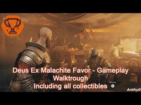 God Of War (2018) - Deus Ex Malachite Favor & Landsuther Mines Exploration PS4 Pro 1080p 60fps
