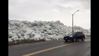 Tsunami de hielo causa afectaciones en el Noreste de Estados Unidos