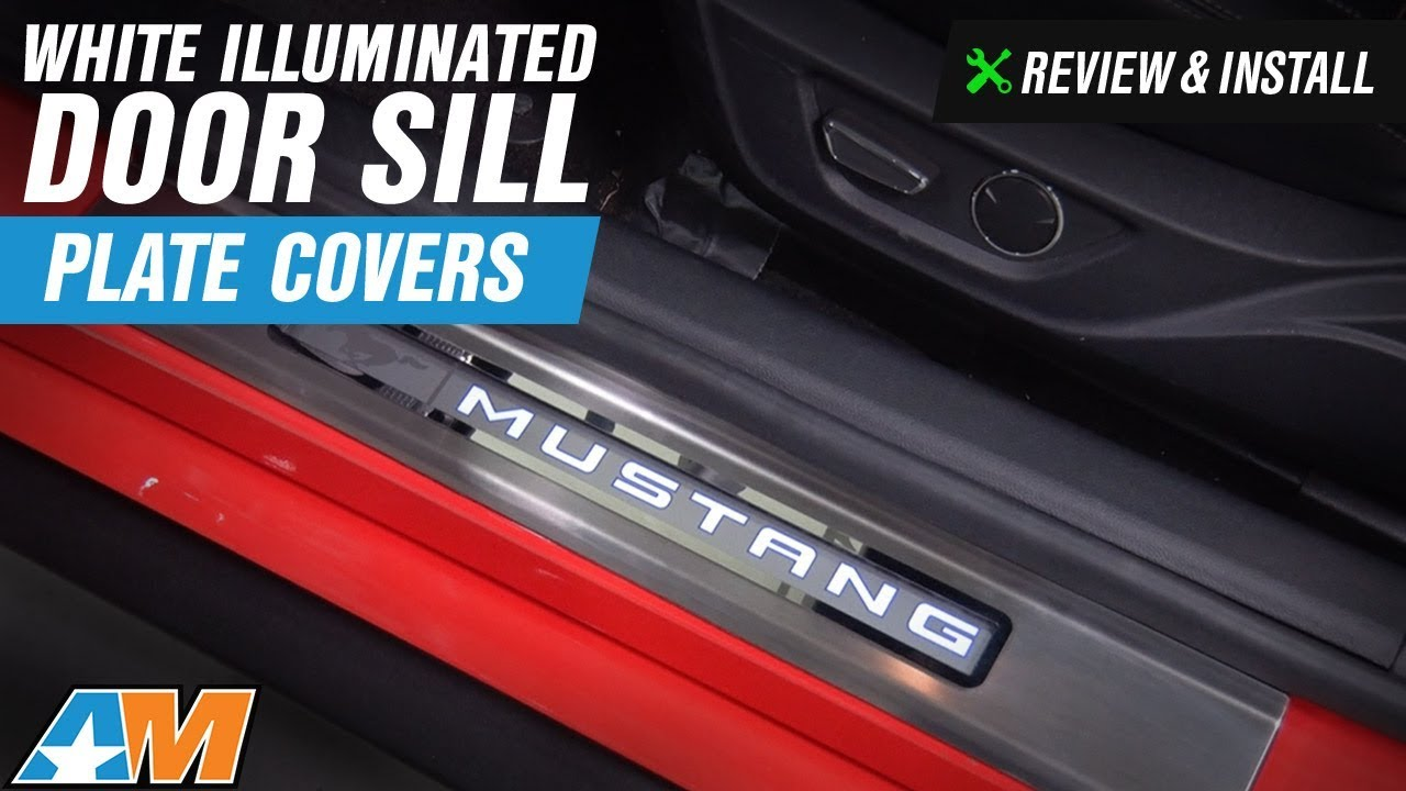 2017 Mustang Gt Premium >> 2015-2017 Mustang White Illuminated Door Sill Plate Covers Review & Install - YouTube