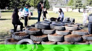 Eco construcción con neumáticos